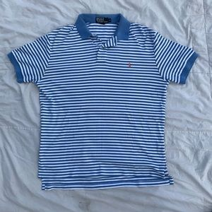 Polo Short Sleeve Blue And White